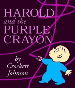 The Journey Begins - title image Harold & Purp Crayon