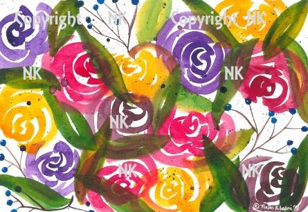 Loose Multi-Colored Roses 2018 PUB